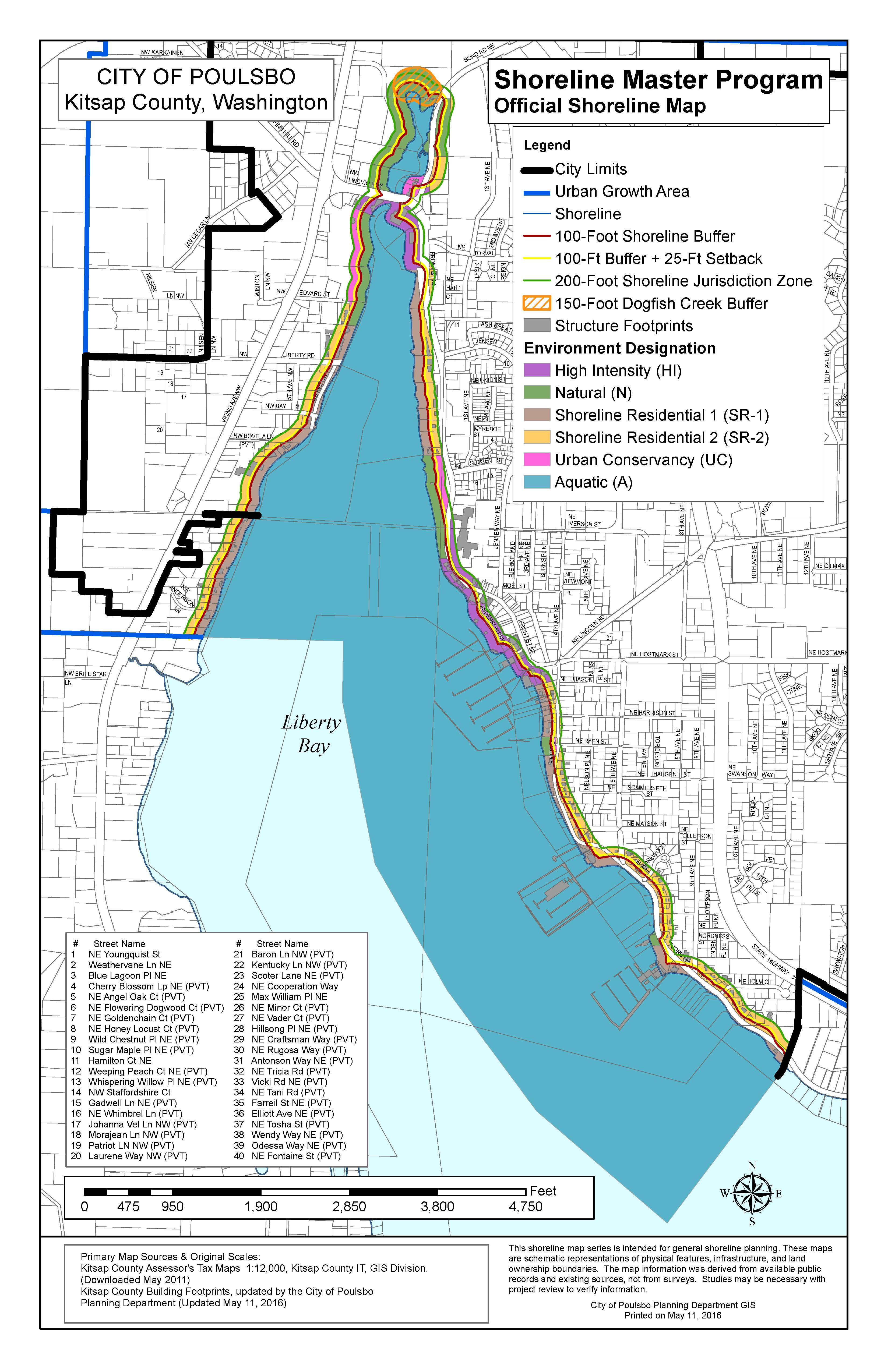 Codes Amendments Maps City Of Poulsbo 2nd Judicial Circuit Historical Society Official Shoreline Map
