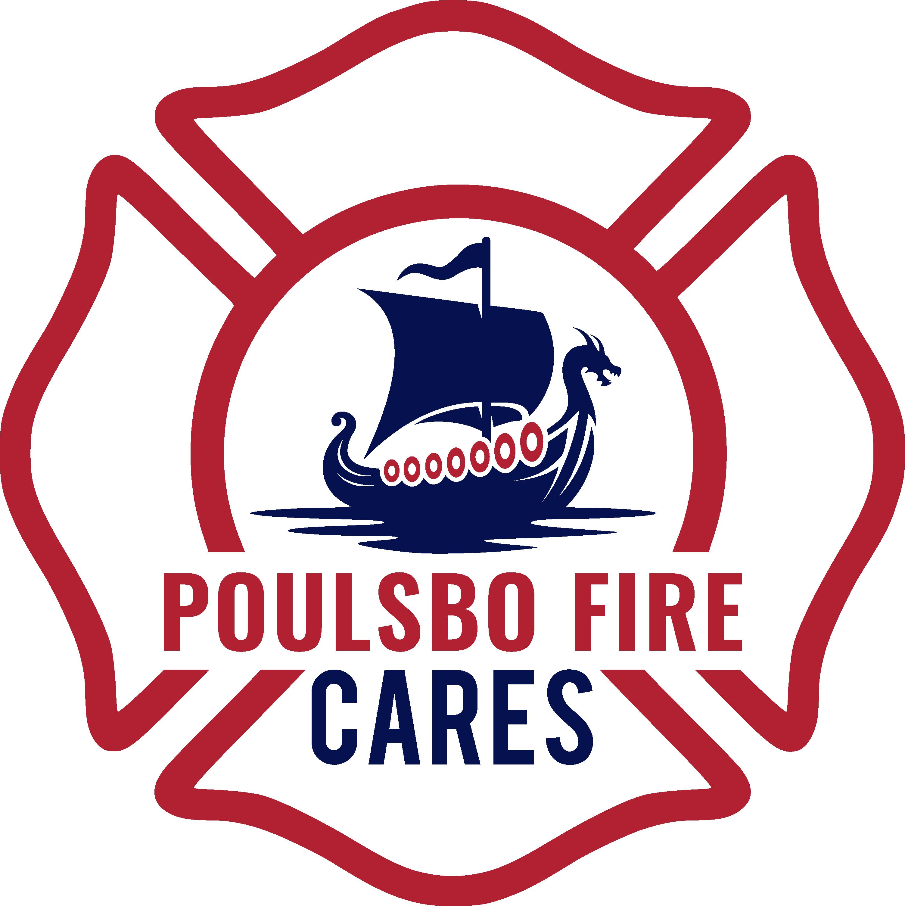 poulsbo fire cares logo